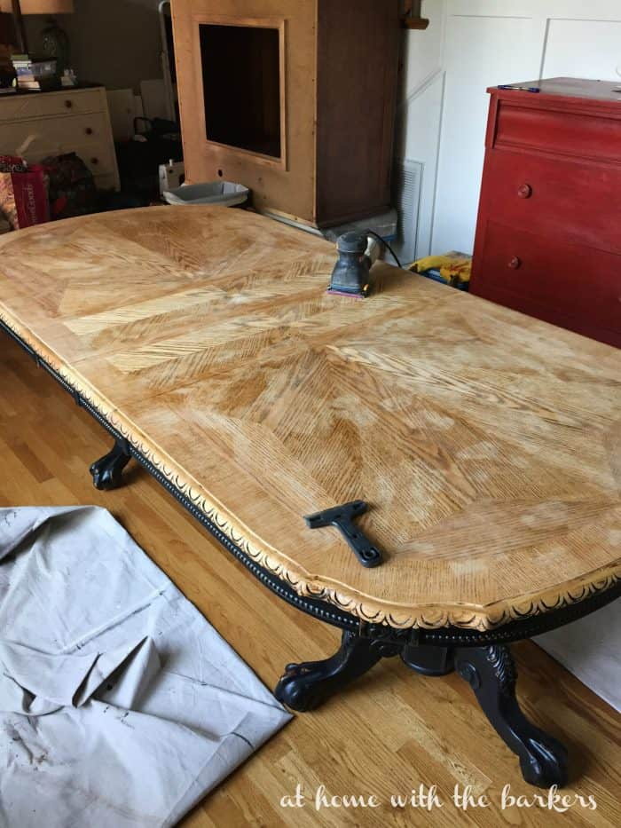 Sanding Dining Room Table