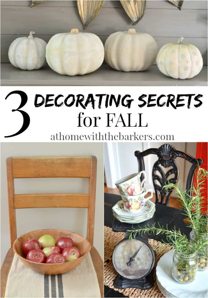 Simple fall decorating - Simple decorating secrets for your home revealed ...
