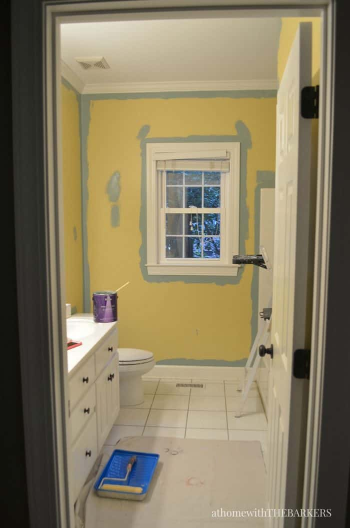 Holiday Ready Room Refresh / Before BEHR Marquee Paint / athomewiththebarkers.com