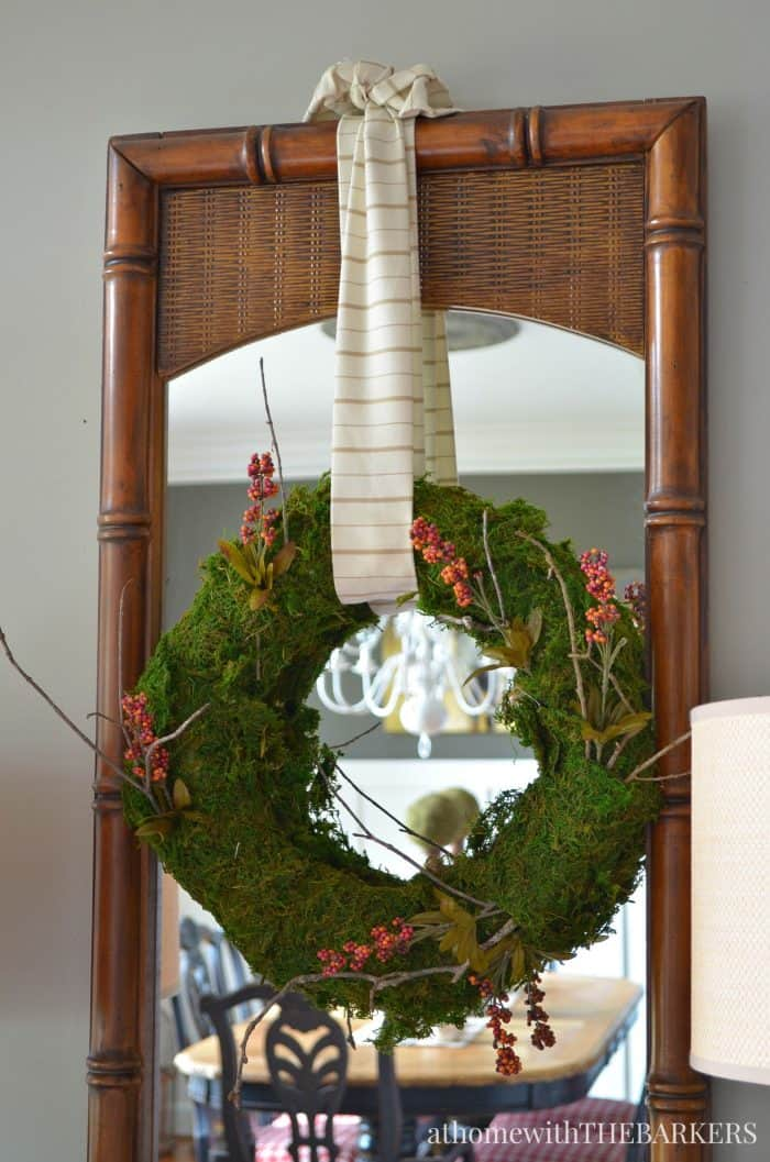 DIY Fall Foyer Wreath from At Home with The Barkers