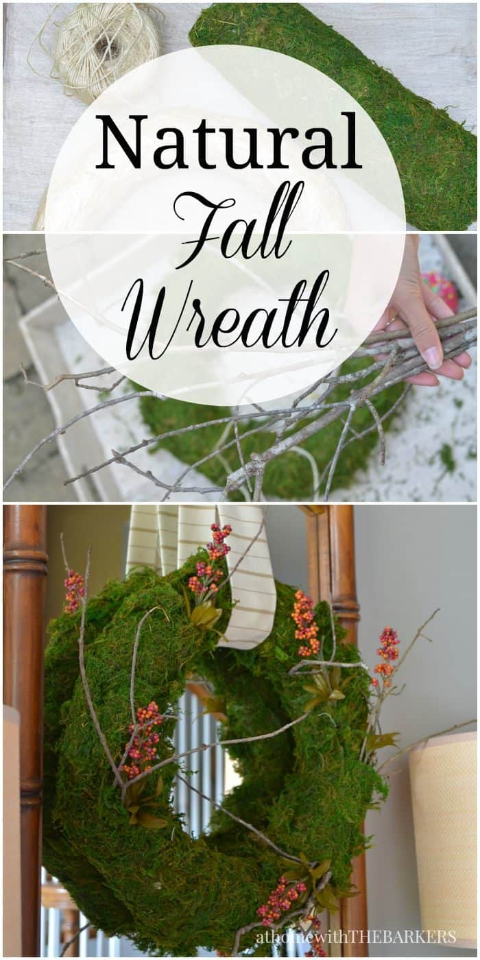 DIY Natural Fall Wreath from At Home with The Barkers
