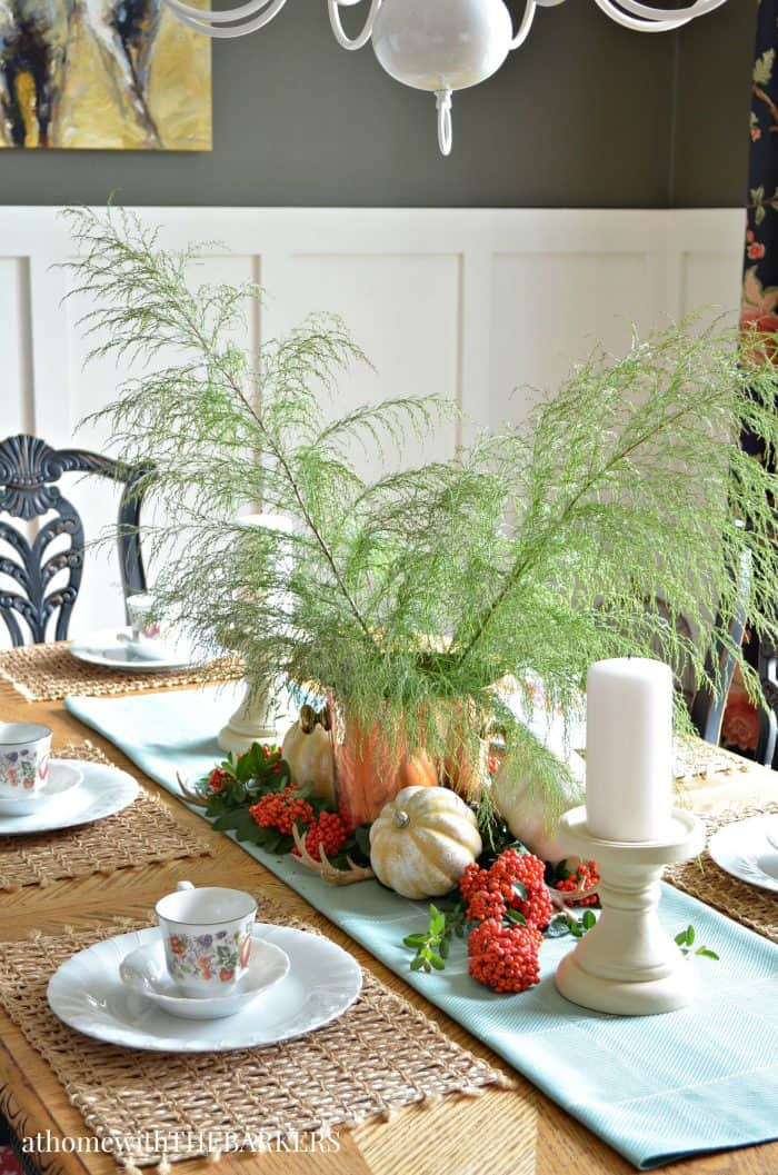 Fall Centerpiece from At Home with The Barkers