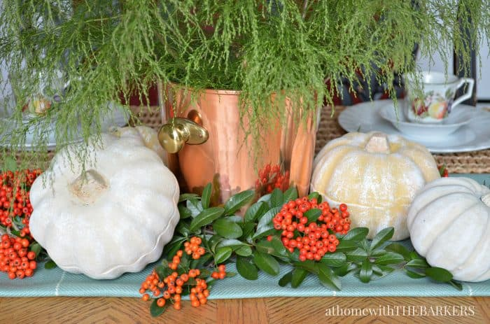 Fall Centerpiece with texture