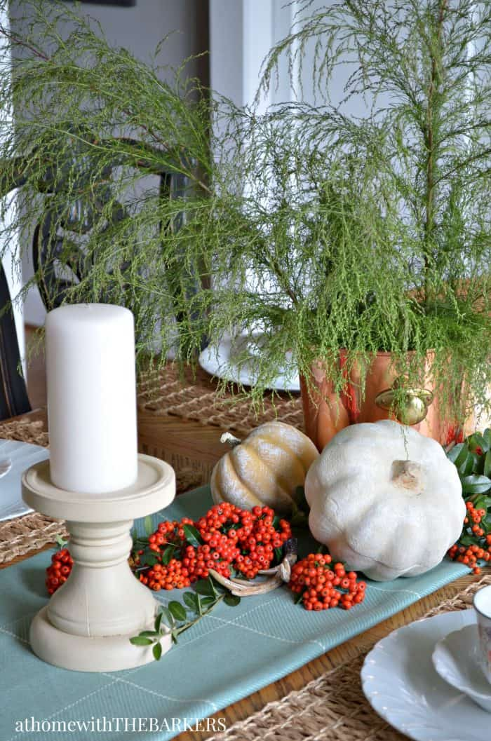 Fall Table Centerpiece from At Home with The Barkers