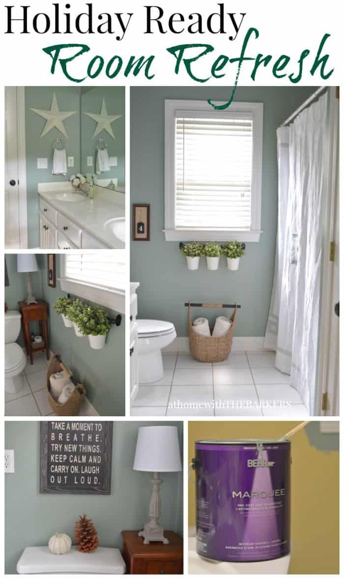 Holiday Ready Room Refresh / BEHR Marquee Paint / athomewiththebarkers.com