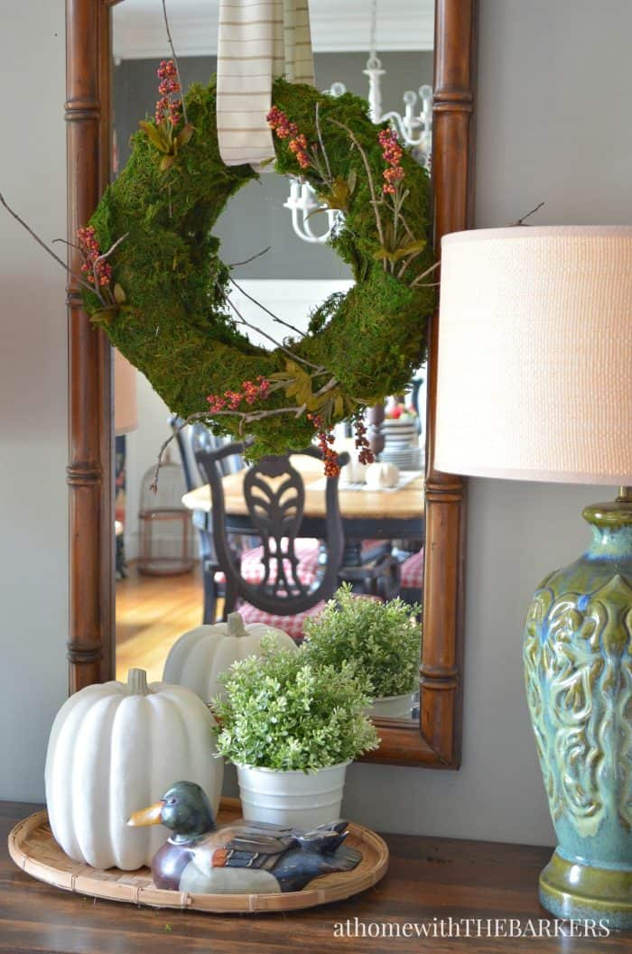 Natural Fall Foyer Wreath from At Home with The Barkers