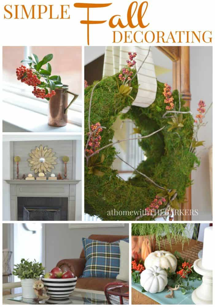 Simple Fall Decorating from At Home with The Barkers