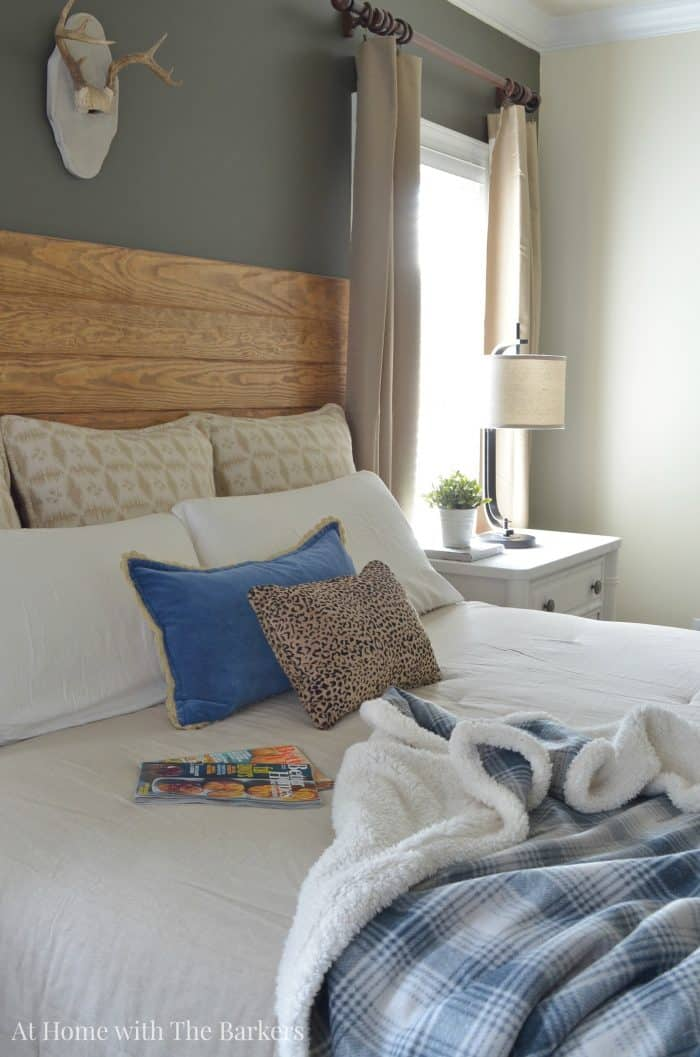 Master Bedroom Refresh- Neutral Comforter Decor - athomewiththebarkers.com
