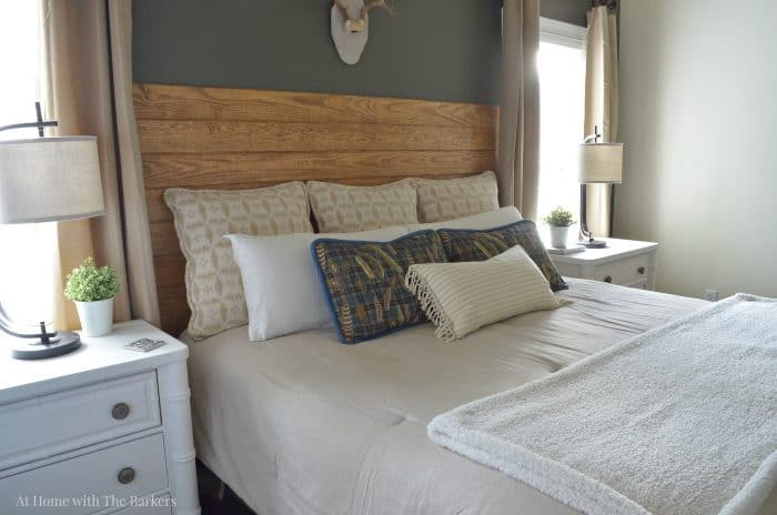 Master Bedroom Refresh with neutrals - athomewiththebarkers.com