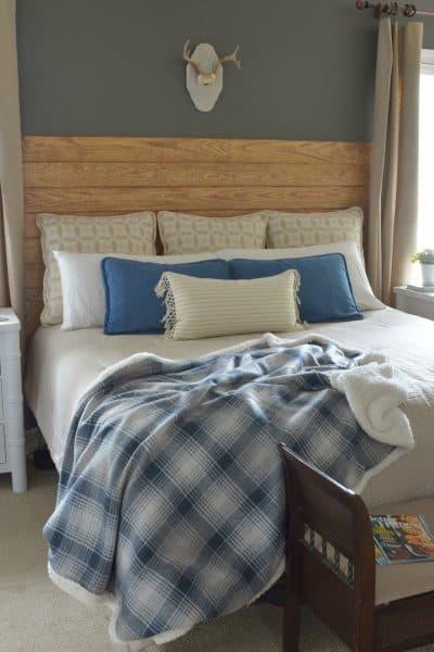 Master Bedroom Room Refresh -NAUTICA Comforter - Denim Pilows