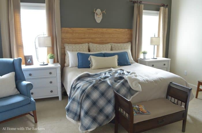 Master Bedroom Room Refresh -NAUTICA Comforter - Denim Pilows