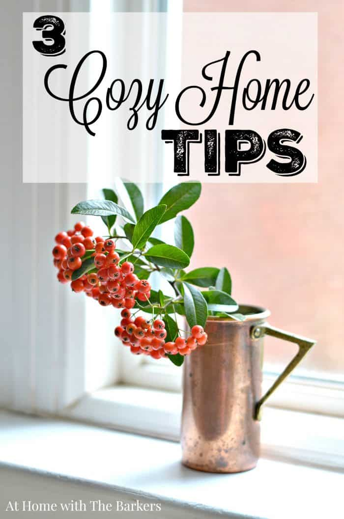 Three Cozy Home Tips for the senses! athomewiththebarkers.com