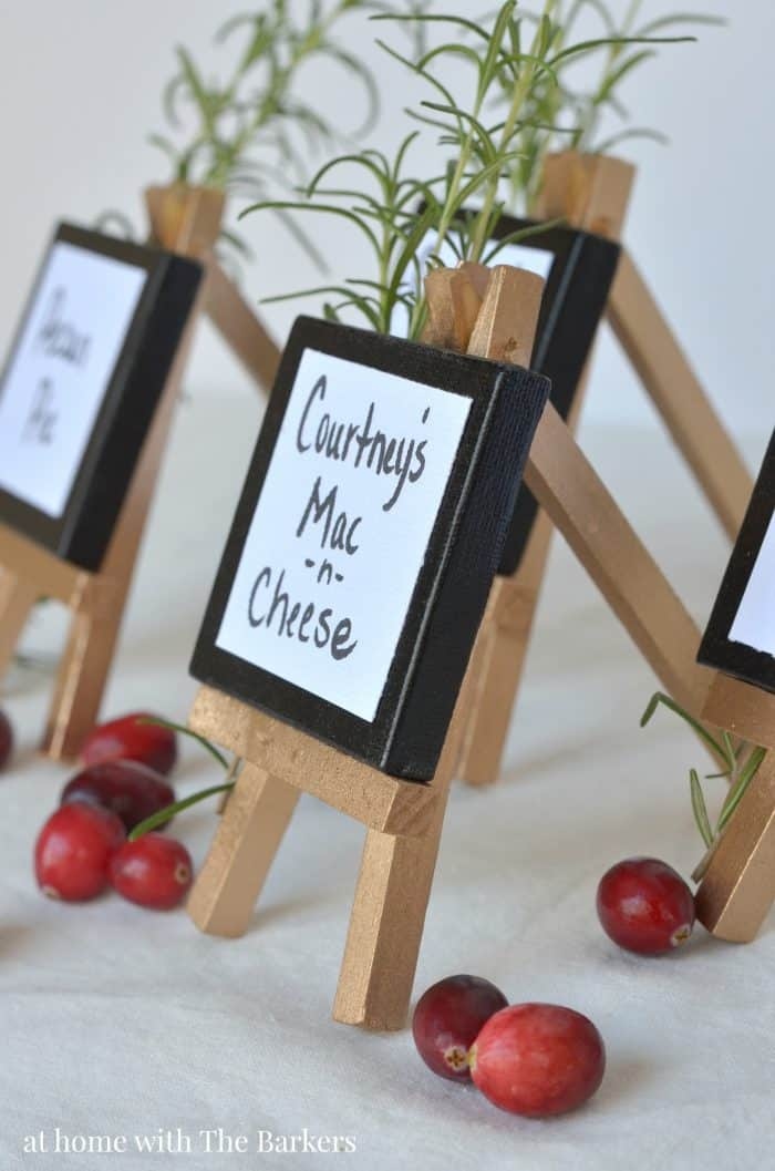 Buffet Table Mini Easel Signs - athomewiththebarkers.com