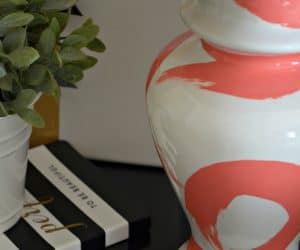 DIY Brushstroke Lamp