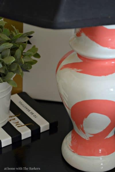 DIY Brushstroke Lamp - MAXX GLOSS Paint and Thrift Store Lamp - athomewiththebarkers.com