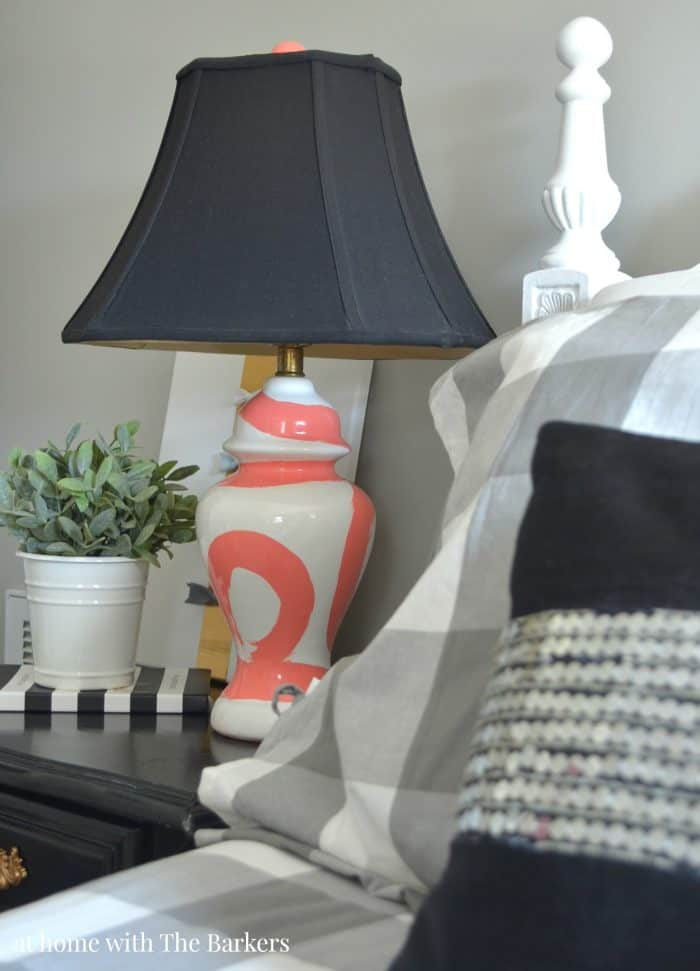 DIY Brushstroke Lamp from athomewiththebarkers.com