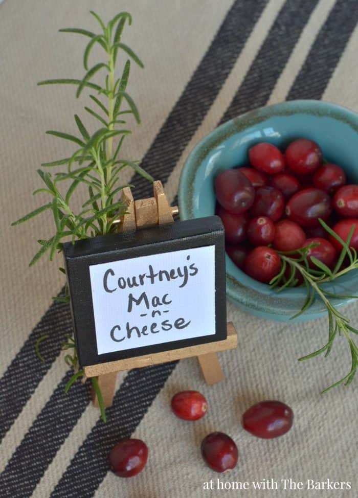 Thanksgiving Buffet Table Mini Easel Signs - athomewiththebarkers.com
