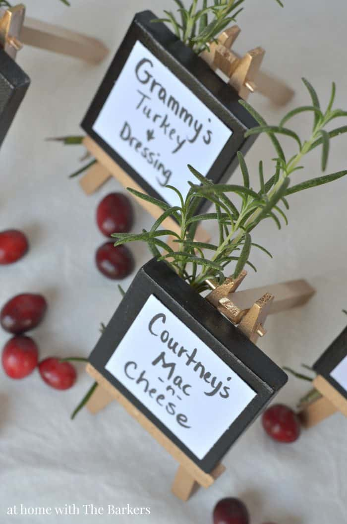 Thanksgiving Buffet Table Signs - athomewiththebarkers.com