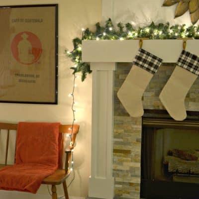 Christmas Lights for the Mantel
