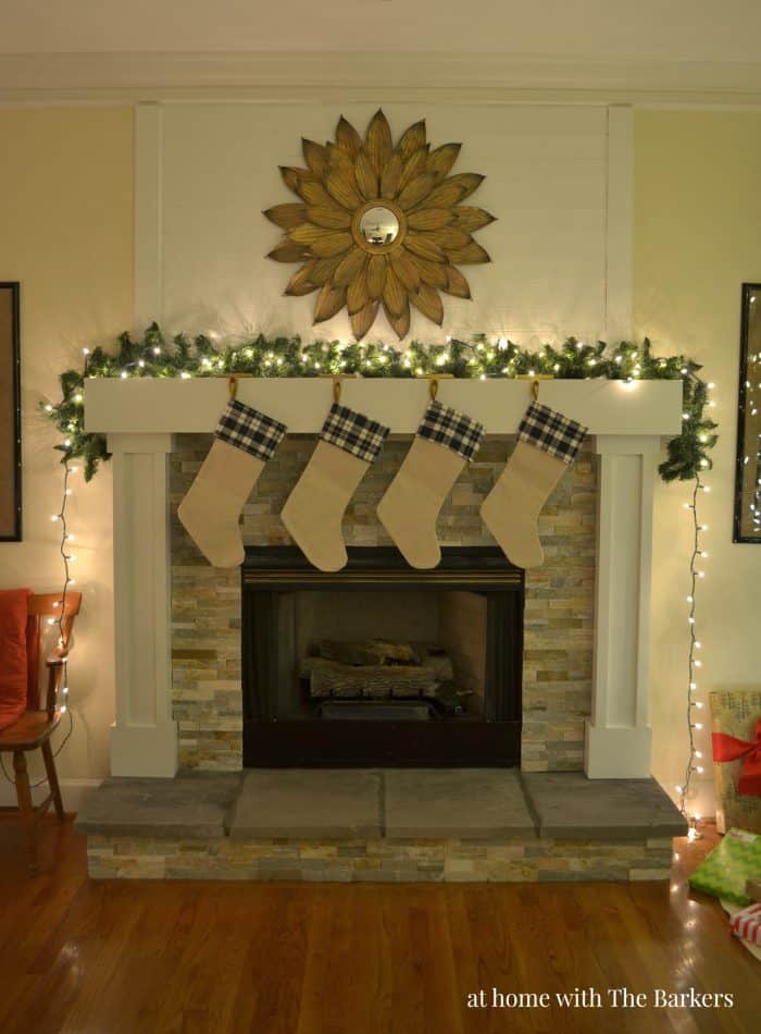 Christmas Mantel and Night home tour