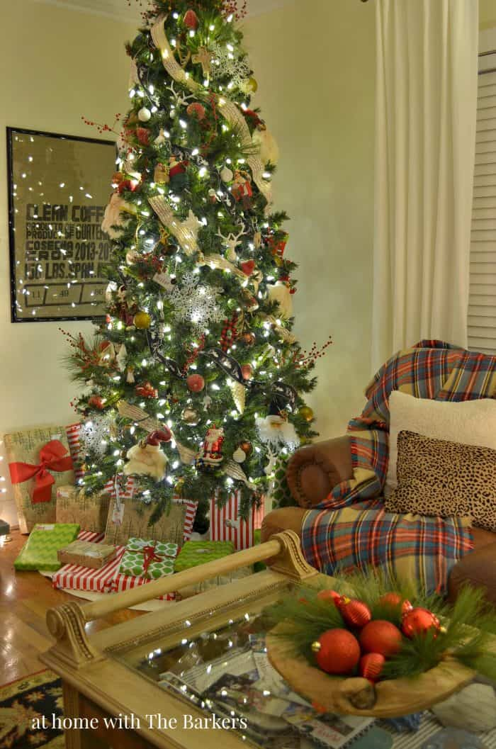 Christmas tree at night and a night home tour