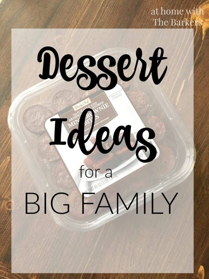 Dessert Ideas for a Big Family / athomewiththebarkers.com