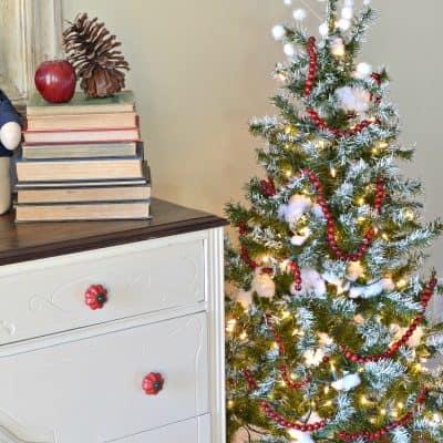 Painted Flocked Christmas Tree