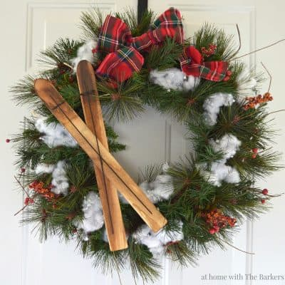 Upcycled Christmas Wreath Feature Photo