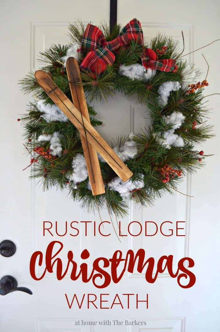 Upcylced Christmas Wreath for Rustic Lodge Decor athomewiththebarker.com