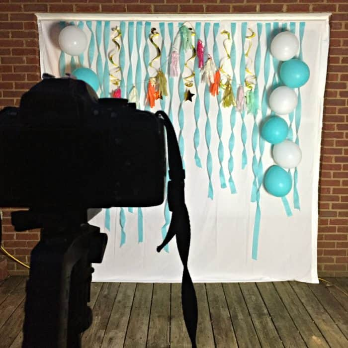 Budget friendly birthday party decor, DIY photo booth