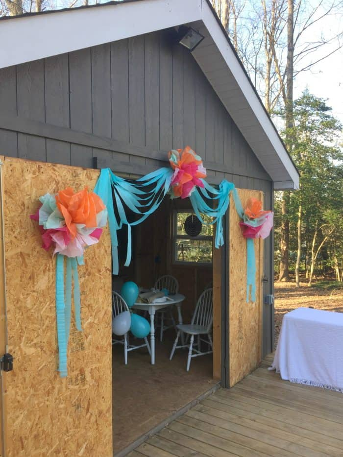 DIY Tissue Paper Flowers for Sweet 16 Birthday Party