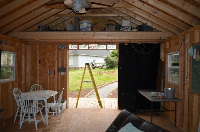 One Room Challenge Shed Double Door view