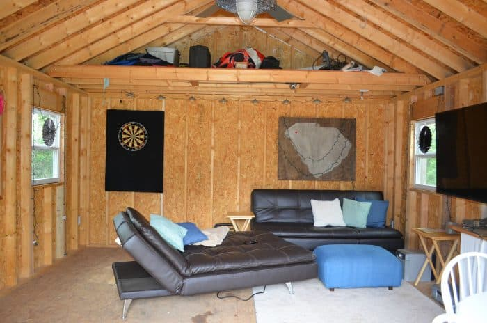 One Room Challenge Shed Interior Before