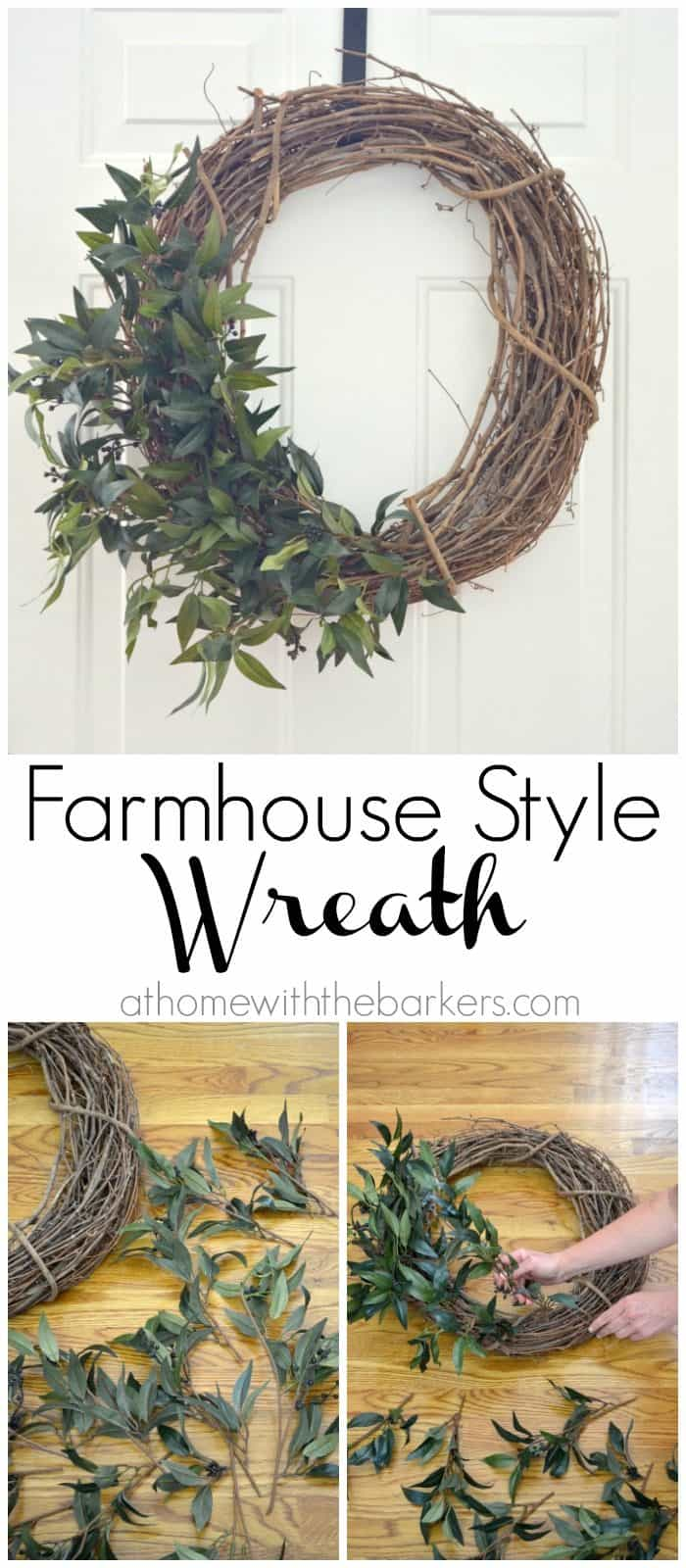 DIY Farmhouse Style Wreath