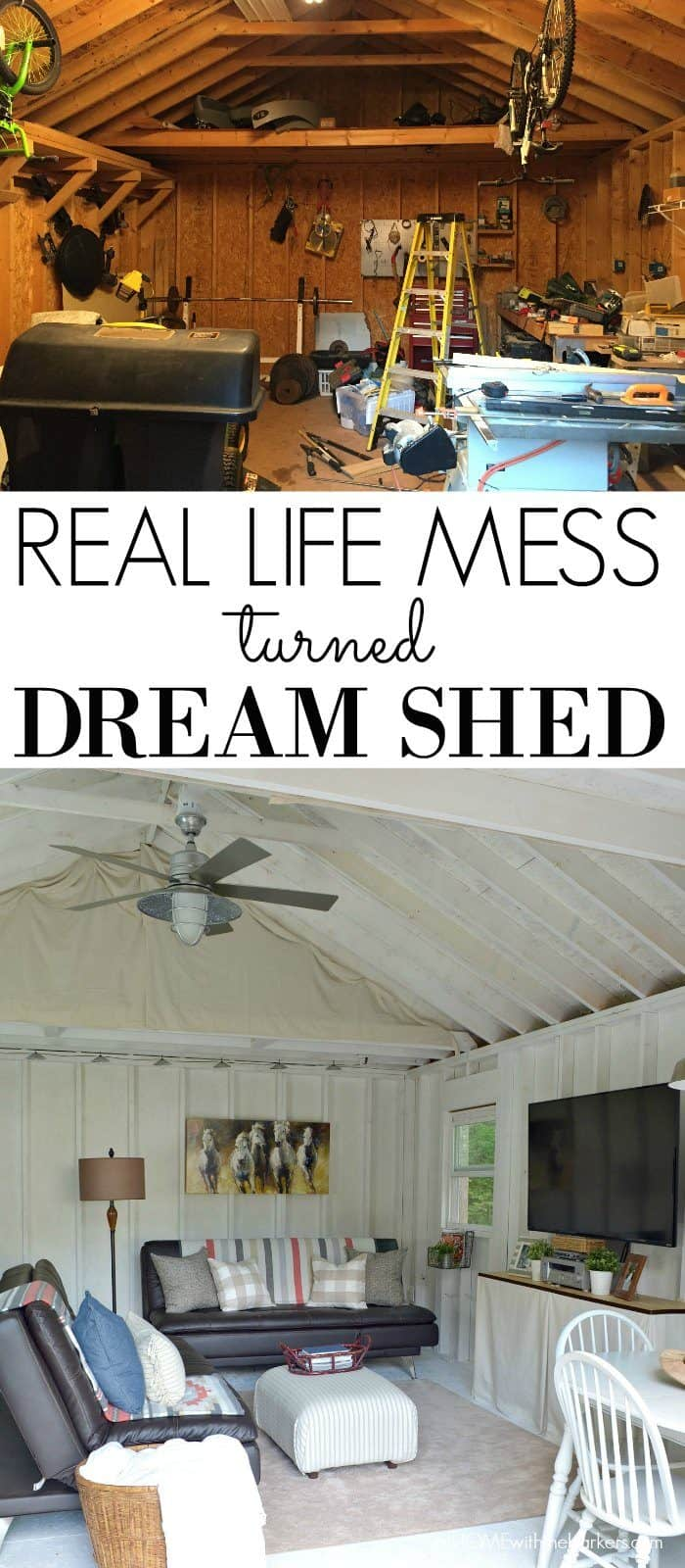 Turning our real life mess into our Dream Shed