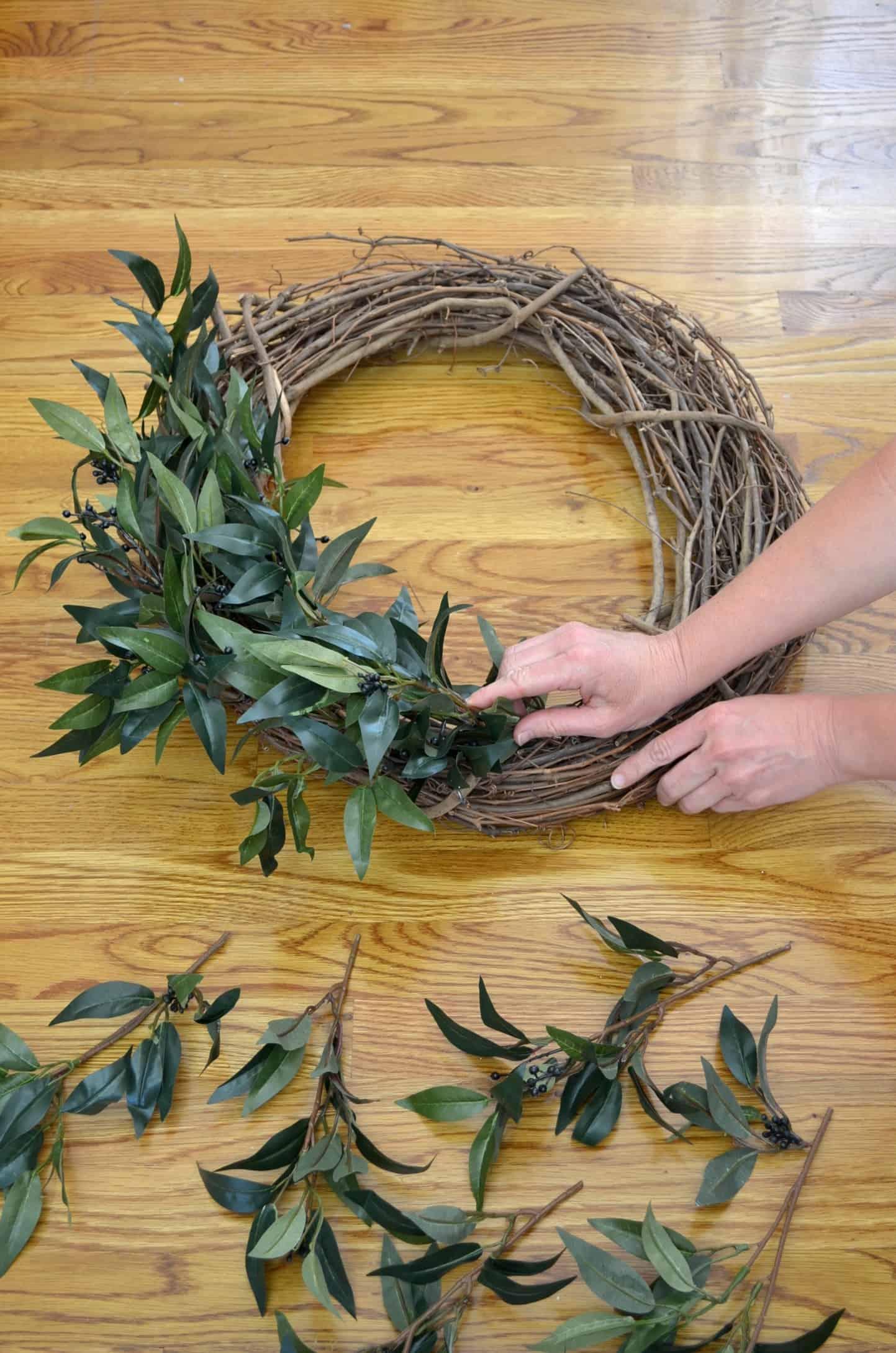 DIY Farmhouse Style Wreath