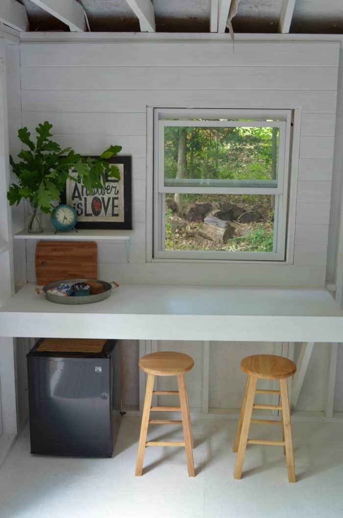 Serving Area - Shed Makeover