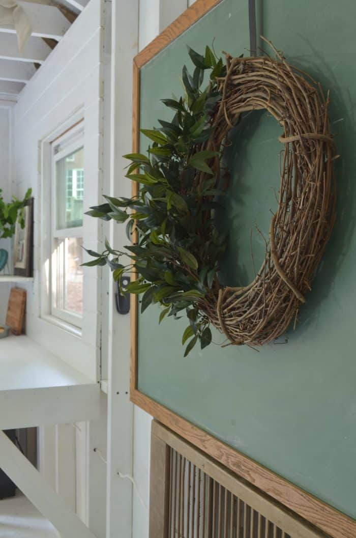 Shed Makeover Farmhouse Wreath