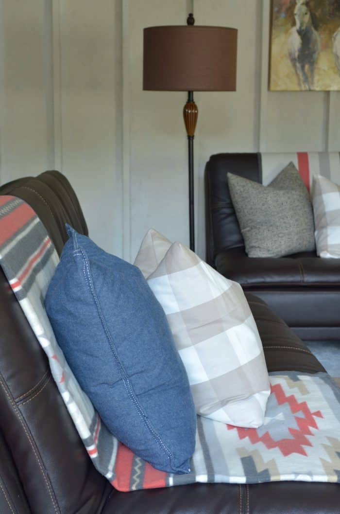 Shed Makeover bedding style blanket
