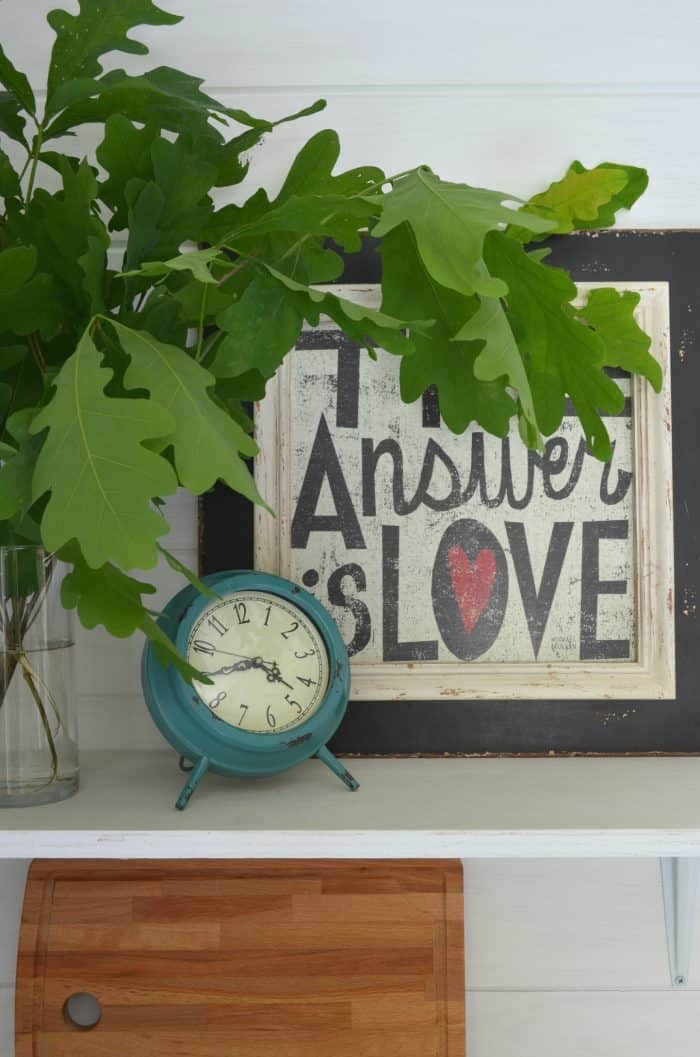 Shelf Styling Shed Makeover Reveal