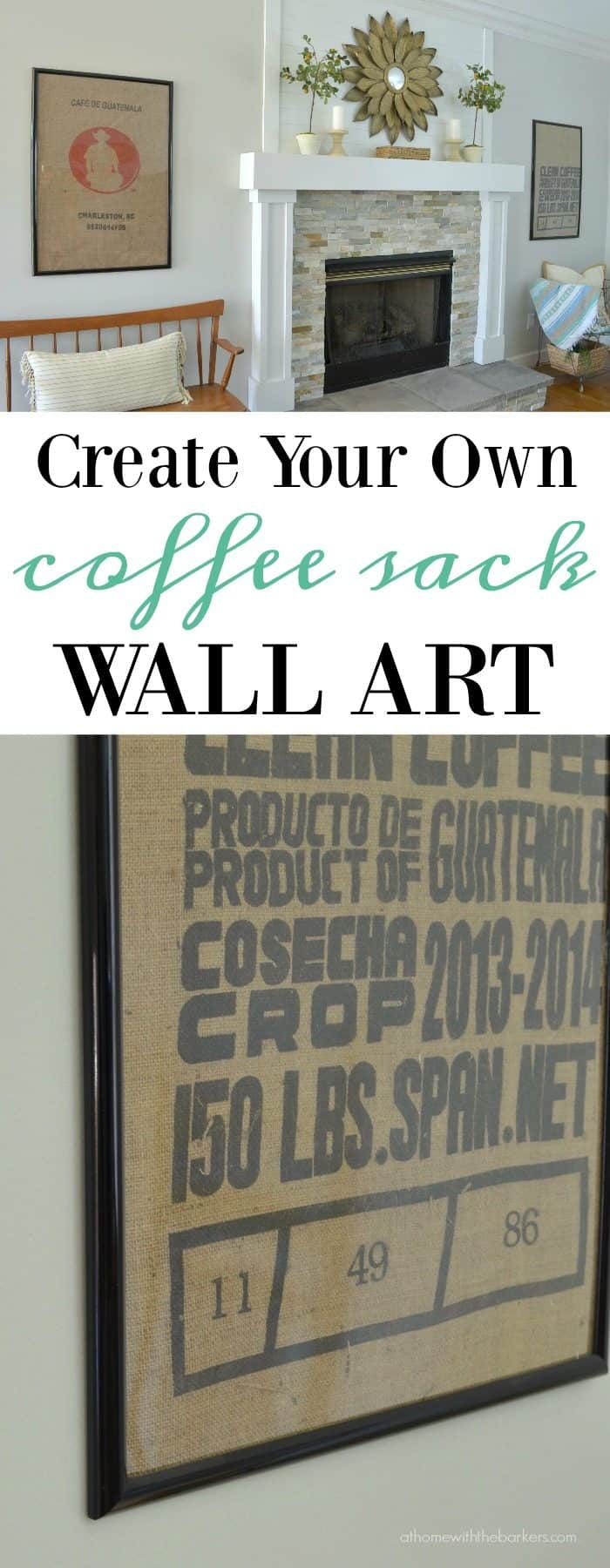 Fixer Upper inspired coffee sack wall art