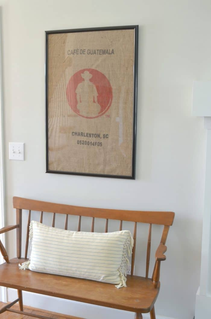 DIY Coffee Sack Wall Decor