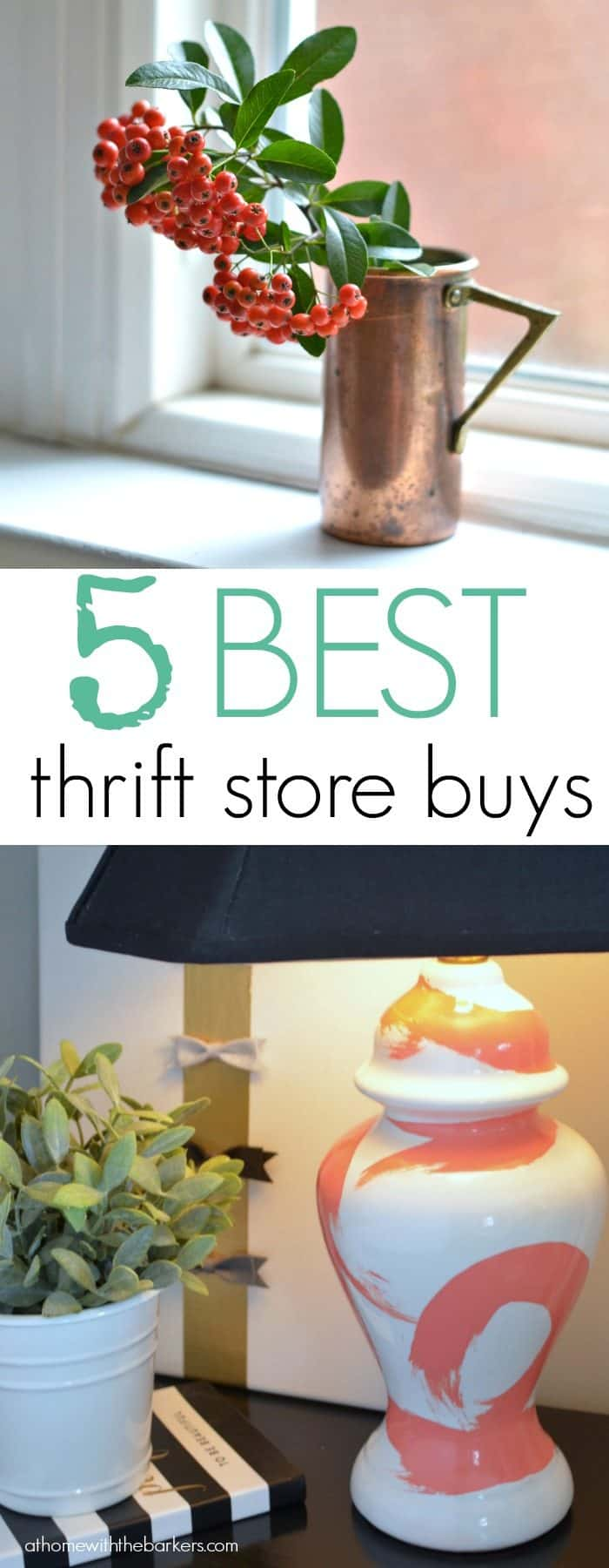 5 Best Thrift Store Buys for the home decorating lover / athomewiththebarkers.com