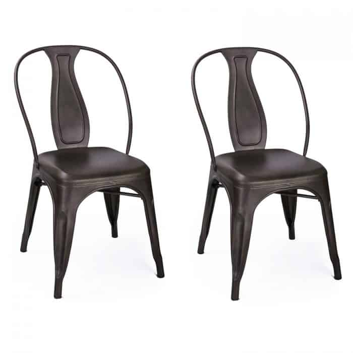 Bronze Stackable Dining Chairs