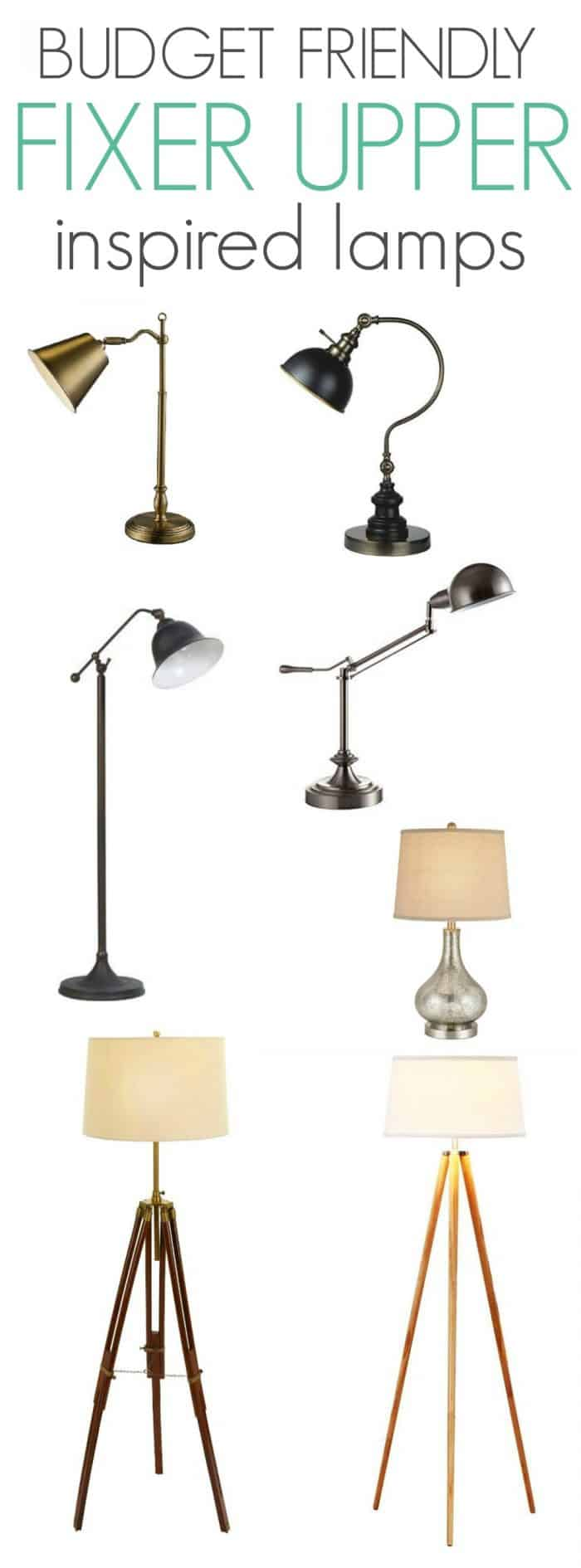 Budget Friendly Fixer Upper Inspired Lamps