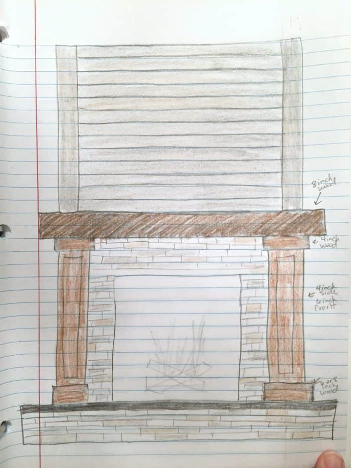 Fireplace Makeover Idea Drawing