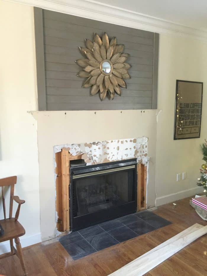 Fireplace Makeover Tile Demo