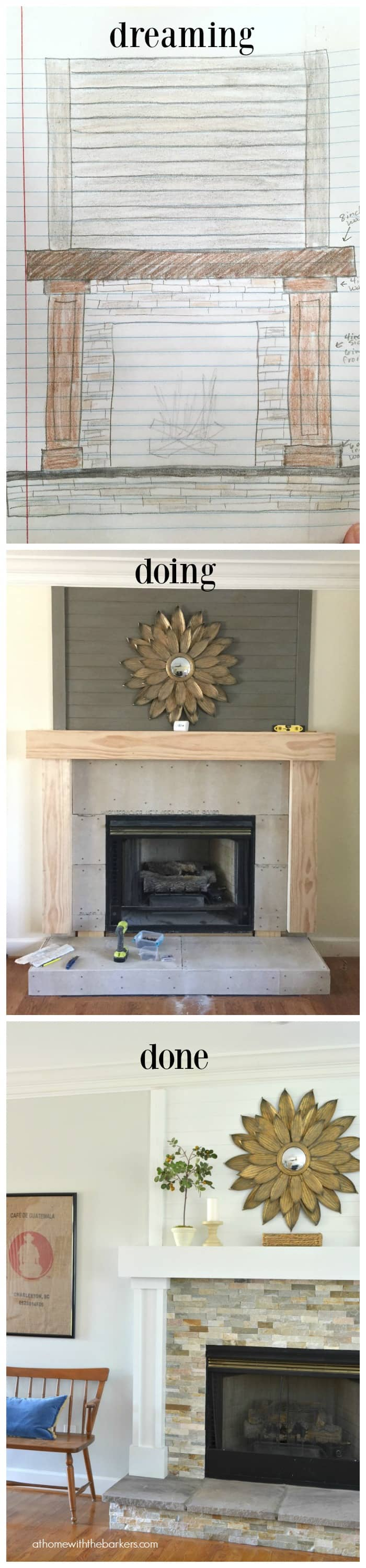 diy fireplace makeover at home with the barkers