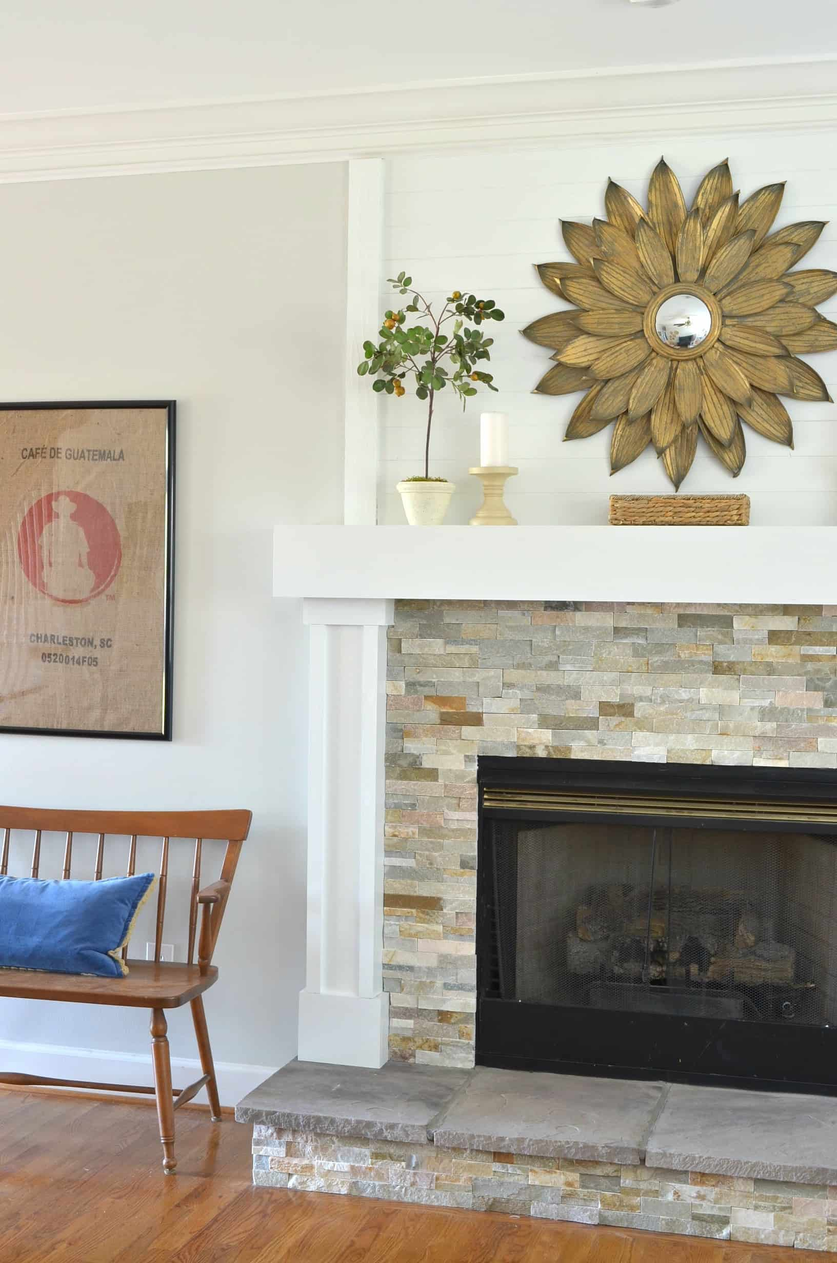 diy fireplace makeover - at home with the barkers