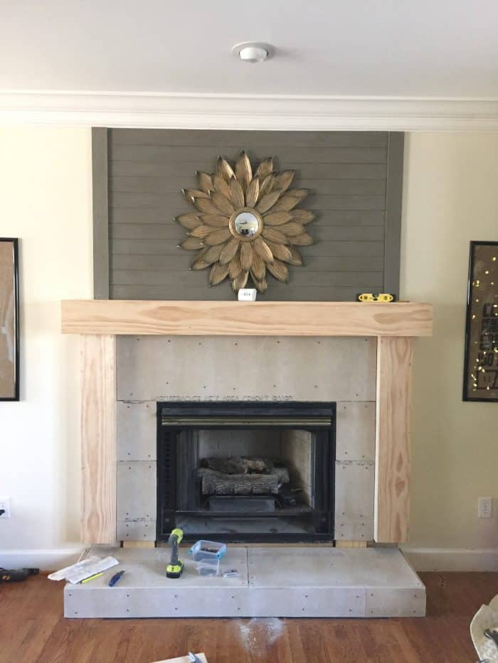Diy Fireplace Mantel Makeover Hearth Building Project